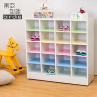 【南亞塑鋼】3.2尺開放式20格塑鋼鞋櫃(彩色板)