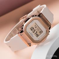 卡西歐金屬錶殼G-SHOCK玫瑰金經典小方塊casio手錶女GM-S5600PG-4 AMOa