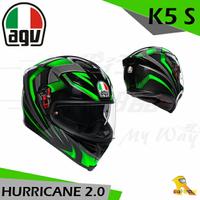 任我行騎士部品 AGV K5S HURRICANE 2.0 黑綠 亞洲版 全罩 安全帽 玻璃纖維 內墨片 除霧片