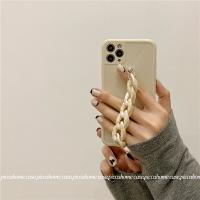 蘋果手機殼 琥珀鏈條腕帶適用12promax蘋果x手機殼iphone11軟xr/7女8plus/pro【MJ11628】
