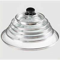 ✪現貨✪室內家庭爐鍋餅鐺陶瓷鍋透明蓋子鍋蓋玻璃蒸汽鍋湯鍋家用 玻璃鍋蓋 強化玻璃蓋 鍋蓋 防鍋蓋