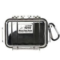 【美國 PELICAN】1010 微型防水箱(黑色透明盒)
