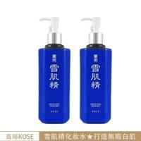 【KOSE 高絲】藥用雪肌精化妝水500ml超值1+1組