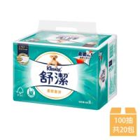 【Kleenex 舒潔】柔韌潔淨抽取衛生紙 100抽x20包/串