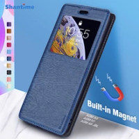 For AGM A9 Case For AGM H1 AGM A9 JBL View Window Cover Invisible Magnet and Card Slot and Stand