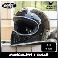蒙古人安全帽 山車帽 直口 亮黑 素色 雙D扣 CNS DOT 認證 復古 哈雷 重機 耀瑪騎士機車安全帽部品