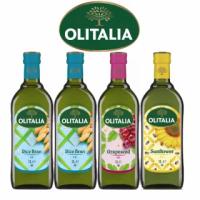 【Olitalia奧利塔】玄米油x2+葡萄籽油x1+葵花油x1(1000mlx4瓶-禮盒組)