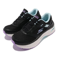 【SKECHERS】慢跑鞋 Max Cushioning 運動 女鞋 Arch Fit 極致避震 避震 緩衝 黑 藍(128301BKAQ)