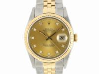 ROLEX錶 勞力士 16233 後加十鑽面盤 中金 自動36mm 編號M081212R