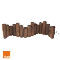 【特力屋】燻木木柱圍籬 D6xL96xH21cm