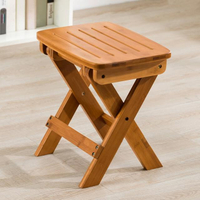 【HappyLife】楠竹摺疊凳小號 免安裝開箱即用 YV9935(折疊凳 凳子 露營椅 收納椅 小椅子 換鞋凳 收納凳)