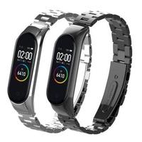 小米手環5代/6代 通用 不鏽鋼金屬錶帶(贈錶帶調整器)