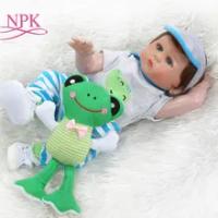 NPK 48 Cm BEBE Boneka Reborn Balita Boy Boneka Full Body Silikon Bath Toy 100% Tangan Terperinci Paiting Pinky Lihat