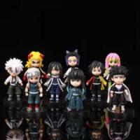 Demon Slayer Tanjirou Tomioka Giyuu และ Kochou Shinobu และ Uzui Tengen และ Rengoku Kyoujurou Action Figure เครื่องประดับของเล่น