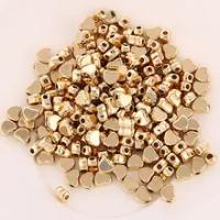 100ชิ้น/ล็อต Love Heart Shape CCB ลูกปัดทองคำขาวลูกปัด Spacer สำหรับเครื่องประดับทำอุปกรณ์ DIY สร้อยคอสร้อยข้อม...