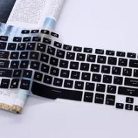 Silicone Clear Keyboard Skin Cover Protector for Asus ROG Zephyrus G14 GA401 GA401ii GA401iv GA401iu 14-inch gaming notebook