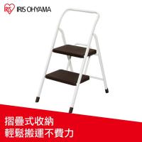 IRIS OHYAMA 安全二階摺疊梯 OSU-2_棕色/綠色
