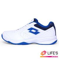 【LOTTO】男 SPACE 600 網球鞋(白/藍-LT0AMT2236)