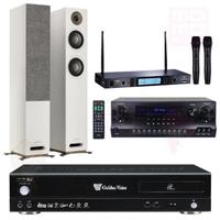 【金嗓】卡拉OK點歌機 4TB+擴大機+無線麥克風+喇叭(CPX-900 R2+DW1+MR-865 PRO+JAMO S807)