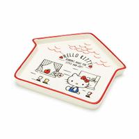 小禮堂 Hello Kitty 房屋造型陶瓷盤《紅白》水果盤.點心盤.2020新生活系列