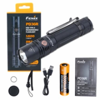 Fenix PD36R USB-Cแบบชาร์จไฟได้1600 LumensไฟฉายLEDยุทธวิธีไฟฉาย + แบตเตอรี่