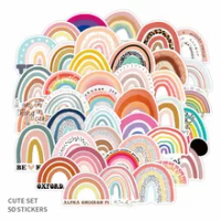 10/30/50PCS ที่มีสีสัน Rainbow Bridge ขนาดเล็กสด Graffiti สติกเกอร์กระเป๋าเดินทางโทรศัพท์มือถือเด็กหมวกกันน็อกส...