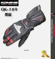 ~任我行騎士部品~日本 KOMINE GK-169 黑紅 競賽級 鈦合金 皮革 手套 長手套