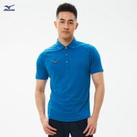 Slim FIT 男款短袖POLO衫 32TA101418(希臘藍)【美津濃MIZUNO】