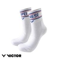 【VICTOR 勝利體育】東京奧運中華隊CHINESE TAIPEI 運動襪 尺寸L 3入(C-5071 A 白)