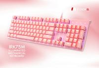 irocks K75M K75MS 淡雅粉色上蓋單色背光機械式鍵盤-Gateron軸