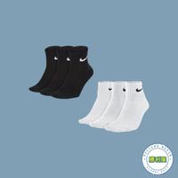 【滿額↘現折$200】【NIKE】NIKE LIGHTWEIGHT QUARTER SOCKS CREW 襪子 中筒襪 黑 白 小LOGO 基本款 男女尺寸【勝利屋】