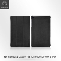 【Metal-Slim】Samsung Galaxy Tab A 8.0 2019 with S Pen(高仿小牛皮三折立架式皮套)