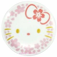 asdfkitty*KITTY櫻花大臉陶瓷醬油碟/醬料碟/小碟子/點心皿/茶包盤/湯匙架-日本製