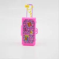 3Dน่ารักกระเป๋าเดินทางกระเป๋าเดินทางTrunkสำหรับสำหรับตุ๊กตาเด็กของเล่นพลาสติกของขวัญของเล่...