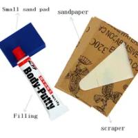 1 set of car body putty scratch filer kit repair the paint includes scratch filler special scraper water sandpaper