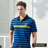 【NAUTICA】COMPETITION經典條紋POLO衫(藍色)