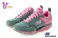 Skechers運動鞋 女鞋 SRR 彈力鞋 翹翹板 超軟Q 慢跑鞋 健走鞋 運動鞋 R8222#灰粉 奧森鞋業