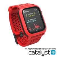【Catalyst】APPLE WATCH SE/S6/S5/S4 44mm 耐衝擊防摔保護殼-含錶帶(紅色)