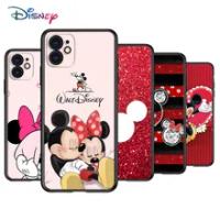 Disney สีแดง Mickey Minnie ซิลิโคนฝาครอบสีดำสำหรับ Apple IPhone 12 Mini 11 Pro XS MAX XR X 8 7 6S 6 Plus 5 5s SE โทรศัพท์กรณี