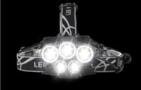 5LED戶外強光頭燈 釣魚燈 頭燈 帽燈 照明燈具 手電筒 夜間照明 戶外 露營 【S63】