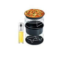 氣炸鍋超值6件套 氣炸鍋配件串燒架 飛利浦Arlink 飛樂karalla科帥 米姿噴油瓶 烘烤鍋 披薩盤