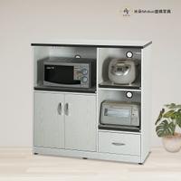 3.6尺兩門一抽三拉盤塑鋼電器櫃 塑鋼家具(附插座)【米朵Miduo】