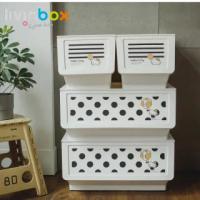 【livinbox 樹德】Hello Kitty聯名大嘴鳥收納箱組 4入1組(KITTY/可堆疊/玩具收納/衣物收納)