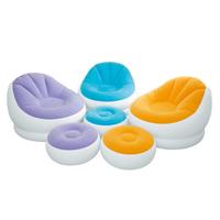 【INTEX】馬卡龍懶人椅-單人充氣沙發椅附腳椅