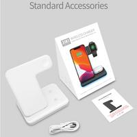 [戰鹿]2021爆款 airpods apple watch iphone 無線充電 白色 無線充電座 三合一無線充電座