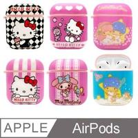 【SANRIO 三麗鷗】Hello Kitty/美樂蒂/雙子星 AirPods 1代/2代 專用矽膠保護套(正版授權)