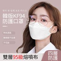 KF94立體成人口罩(10入) 黑色口罩 透氣 舒適 韓國口罩 3D立體口罩 成人口罩 折疊口罩 四層 魚型口罩