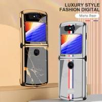 Luxury Plexiglass Plating Hard Fold Case For Motorola Moto Razr Case 5G Anti-knock Full Protection Cover For Motorola Razr Coque