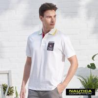 【NAUTICA】COMPETITION美式LOGO短袖POLO衫(白)