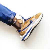 ♚ 2021新款 最新配色 Sacai x Nike VaporWaffle 3.0 棕藍 雙鉤 DD1875-200